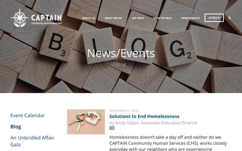 Screenshot of Blog captaincares.org - CAPTAIN Community Human Services : News/Events : Blog - captured Dec. 13, 2018