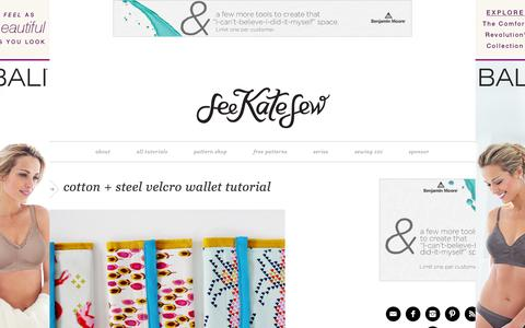 Screenshot of Home Page seekatesew.com - see kate sew - sewing, crafts, tutorials, DIY - captured Sept. 19, 2014