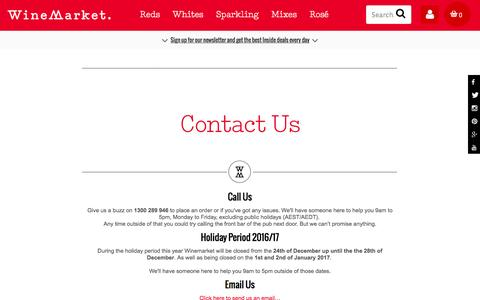 Screenshot of Contact Page winemarket.com.au - Contact Us | The WineMarket Connection - captured Dec. 5, 2016