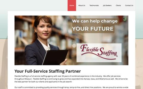 Screenshot of Home Page flexible-staffing.com - Flexible Staffing | Midwest Staffing Agency - captured Sept. 29, 2016