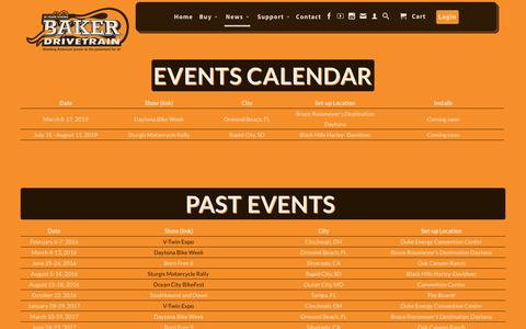Screenshot of Press Page bakerdrivetrain.com - Harley Davidson Automatic Transmission | Events | BAKER Drivetrain - captured Oct. 22, 2018