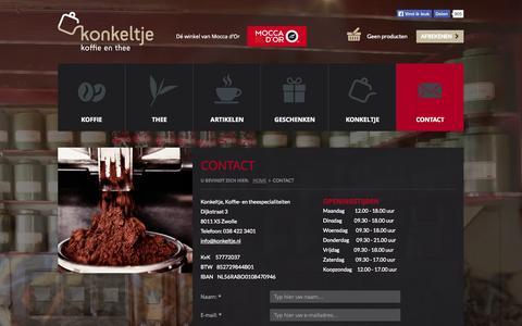 Screenshot of Contact Page konkeltje.nl - Contact - captured Nov. 4, 2014