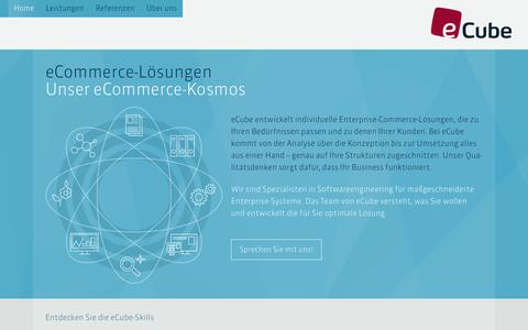 Screenshot of Home Page ecube.de - eCube – Enterprise Commerce - captured June 17, 2015