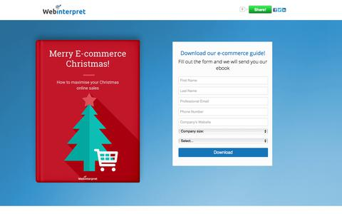 Screenshot of Landing Page webinterpret.com - Merry E-Commerce Christmas: maximise your Christmas online sales - captured March 27, 2018