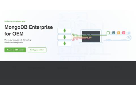 MongoDB Enterprise for OEM | MongoDB