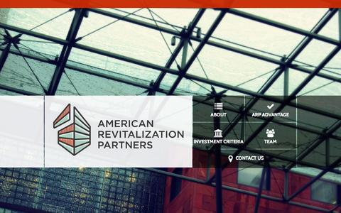 Screenshot of Home Page arptrs.com - American Revitalization Partners - captured Oct. 4, 2014