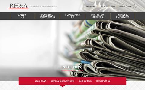 Screenshot of Press Page hensleyassociates.com - agency & community news - Robert Hensley and Associates - captured Nov. 15, 2018