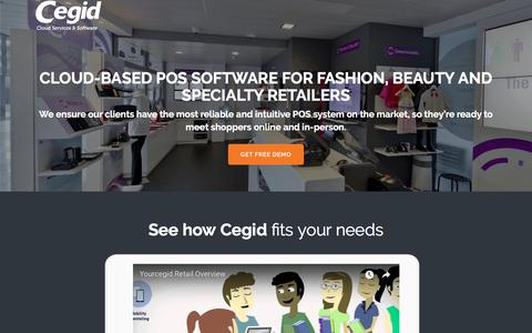 Screenshot of Landing Page cegid.com - Cloud-Based POS Software - Cegid - captured Sept. 20, 2018