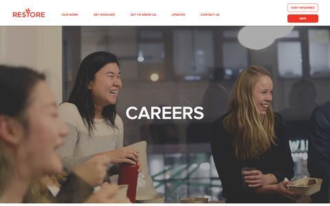 Screenshot of Jobs Page restorenyc.org - Careers - captured Nov. 10, 2017