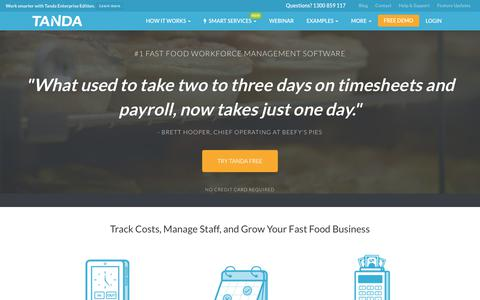 Fast Food Rostering Software, Time & Attendance ... | Tanda