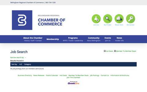Screenshot of Jobs Page bellingham.com - Job Search - – Bellingham Regional Chamber of Commerce - captured Oct. 5, 2018