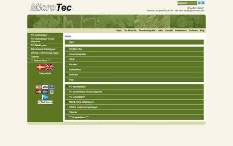Screenshot of Site Map Page Menu Page microtec.dk - Map - captured Oct. 18, 2018