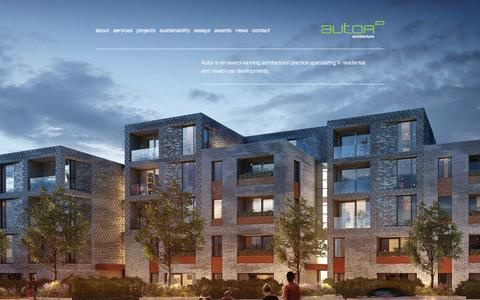 Screenshot of Home Page autorarchitecture.com - Autor Architecture - Award Winning Architects in London - captured Dec. 27, 2015