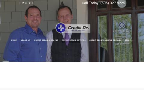 Screenshot of Testimonials Page creditdrusa.com - Credit Dr. Reviews - Credit Dr. Credit Restoration - captured Nov. 13, 2016