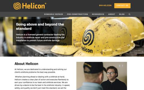 Screenshot of About Page heliconusa.com - About Us — Helicon | Florida Sinkhole Repair Company - captured July 8, 2017