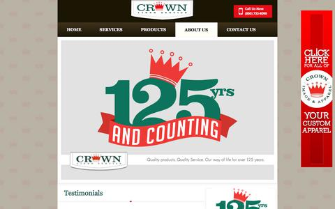 Screenshot of Testimonials Page crownlinen.com - Testimonials For Quality Linen And Uniform Rentals - captured Aug. 31, 2017
