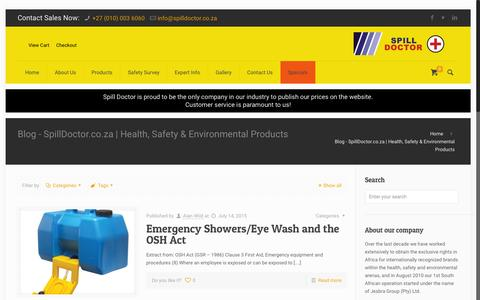 Screenshot of Press Page spilldoctor.co.za - Blog - SpillDoctor.co.za | Health, Safety & Environmental ProductsSpillDoctor.co.za | Health, Safety & Environmental Products - captured Oct. 22, 2015