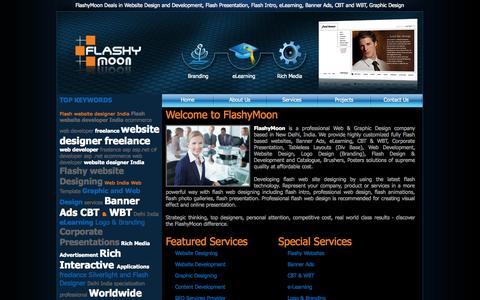 Screenshot of Home Page flashymoon.com - .:: FlashyMoon ::. Digital Media Agency, New Delhi, INDIA - captured Sept. 30, 2014