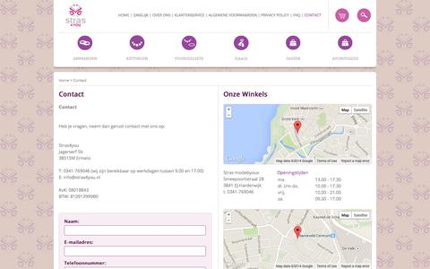 Screenshot of Contact Page stras4you.nl - Contact - captured Oct. 9, 2014