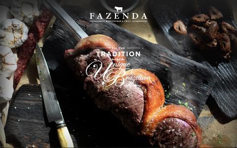 Screenshot of Home Page fazenda.co.uk - Fazenda | A unique dining experience - captured Oct. 5, 2014
