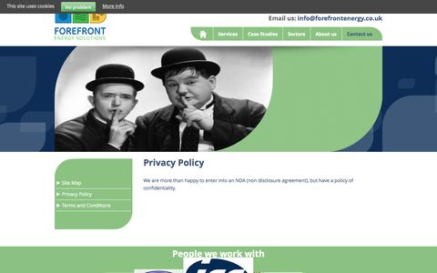 Screenshot of Privacy Page forefrontenergy.co.uk - Privacy Policy | Forefront Energy Solutions - captured Oct. 6, 2014
