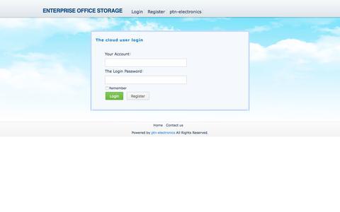 Screenshot of Login Page ptn-electronics.com - The cloud user login - Powered by ptn-electronics - captured Oct. 17, 2016
