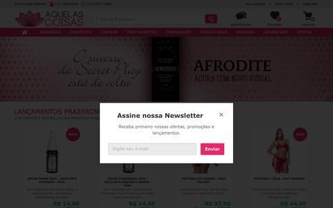 Screenshot of Home Page aquelascoisas.com.br - Sex Shop Aquelas Coisas: A Sex Shop Online que Você Pode Confiar - captured April 27, 2018