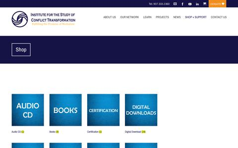 Screenshot of Products Page transformativemediation.org - Products – Institute for the Study of Conflict Transformation - captured Oct. 12, 2018