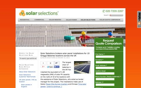 Screenshot of Blog solarselections.co.uk - Solar Selections Blog: Compare Solar Power Quotes UK - Solar Power News - captured Oct. 9, 2014