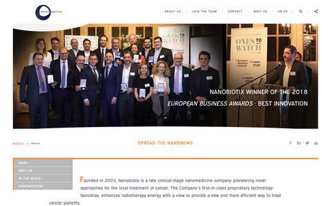 Screenshot of Press Page nanobiotix.com - Medias | Nanobiotix - captured Jan. 27, 2019