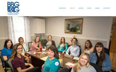 Screenshot of Team Page bbggadv.com - Team | BBG&G - captured Jan. 19, 2019