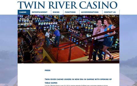 Screenshot of Press Page twinriver.com - Press - Twin River Casino - captured Oct. 6, 2014