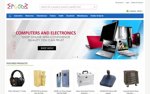 Screenshot of Home Page ergode.com - Buy Electronic Online | Online Electronics Store & Shop USA - captured Sept. 23, 2014