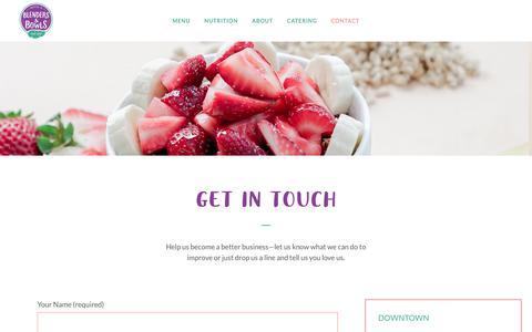 Screenshot of Contact Page blendersandbowls.com - Blenders & Bowls     CONTACT - captured June 1, 2017