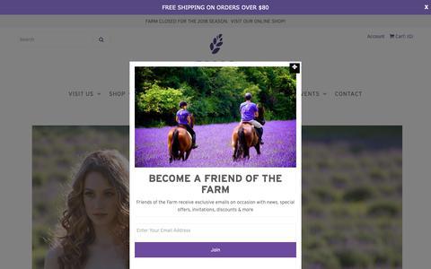 Screenshot of Press Page terrebleu.ca - PRESS – Terre Bleu Lavender Farm Inc. - captured Oct. 18, 2018