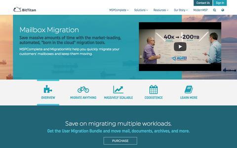 Mailbox Migration - BitTitan