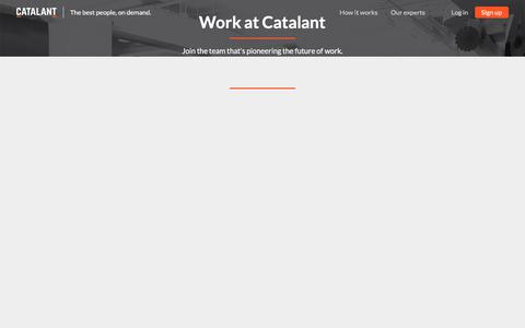 Careers | Business Expertise On Demand - Powered by Catalant