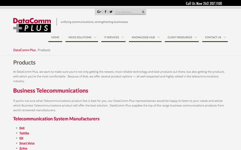 Screenshot of Products Page phonesplus.net - Business Telecommunications | Expert Milwaukee Telecommunications Consulting by DataComm Plus - captured July 30, 2017