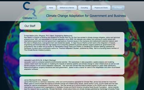 Screenshot of Team Page climaterisk.com.au - About Climate Risk - captured Nov. 7, 2016
