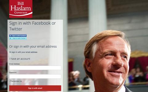 Screenshot of Login Page nationbuilder.com - Sign in - captured Sept. 16, 2014