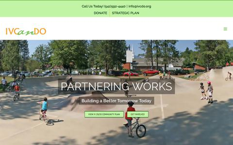 Screenshot of About Page ivcdo.org - ABOUT US | Illinois Valley Community Development Organization - captured July 2, 2018