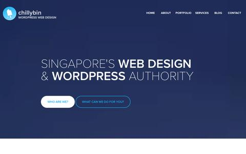Screenshot of Home Page chillybin.com.sg - ChillyBin WordPress Web Design Singapore - captured Jan. 27, 2016
