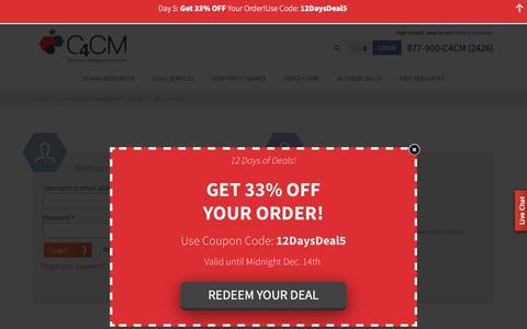 Screenshot of Login Page c4cm.com - My Account - Center For Competitive Management (C4CM) - captured Dec. 14, 2018