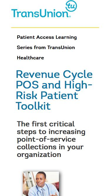 Revenue Cycle POS and High-Risk Patient Toolkit | TransUnion Healthcare