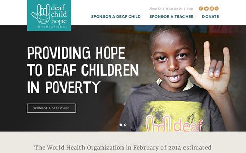 Screenshot of Home Page deafchildhope.org - Deaf Child Hope | Just another WordPress site - captured Feb. 8, 2016