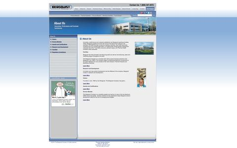 Screenshot of About Page bergquistcompany.com - About Us ~ Thermal Interface Material, Thermal Management ~ The Bergquist Company - captured Oct. 26, 2014