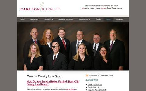 Screenshot of Blog carlsonburnett.com - Omaha Family Law Attorneys Blog   Lincoln Divorce Lawyers   Nebraska Estate Planning Law Firm - captured Oct. 2, 2014