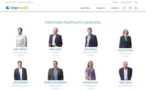 Screenshot of Team Page intermedix.com - Leadership | Intermedix - captured Jan. 13, 2018