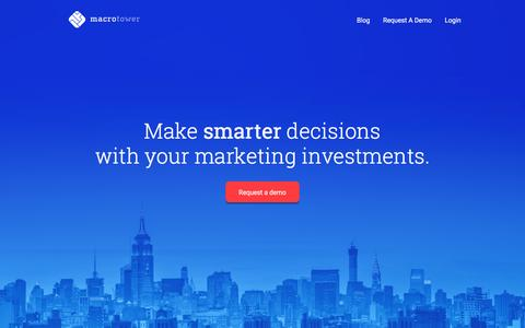 MacroTower • Understand how your marketing spend drives growth.