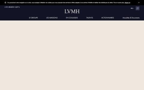 Screenshot of lvmh.fr - Veuve Cliquot, champagne d'exception - Vins & Spiritueux - LVMH - captured Oct. 29, 2017